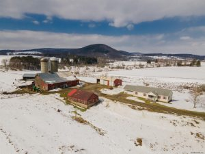 SHARON SPRINGS: DAIRY BARN ON 181 ACRES, 2009 WELL MAINTAINED RANCH HOME; MEADOWS, WOODS, PASTURES photo